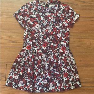 Brooks Brothers Short Sleeve Sateen Floral dress